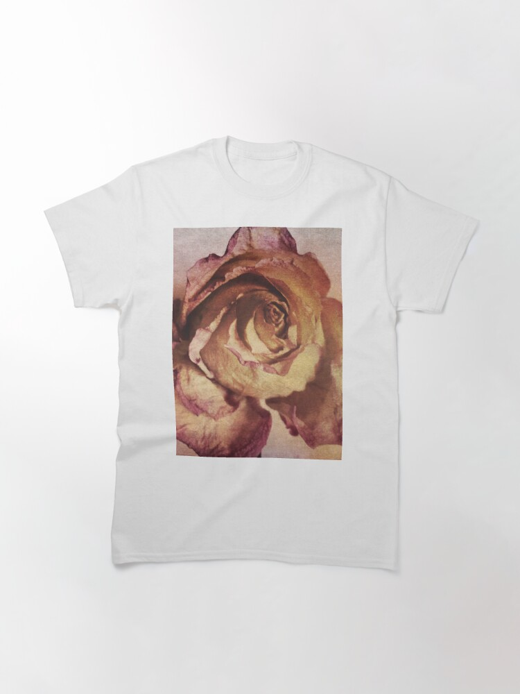 Alternate view of Rose in Time - Flower Lovers - Vintage Dusty Pink Rose Art Classic T-Shirt