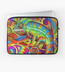Psychedelizard Psychedelic Chameleon Colorful Rainbow Lizard Laptop Sleeve