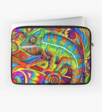 Psychedelizard Psychedelic Chameleon Bunte Regenbogen-Eidechse Laptoptasche