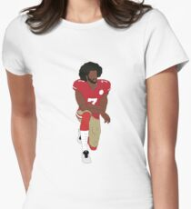 Colin Kaepernick Kneeling  Womens Fitted T-Shirt