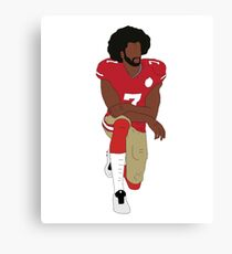 Colin Kaepernick Kneeling  Canvas Print
