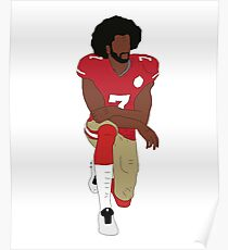 Colin Kaepernick Kneeling  Poster