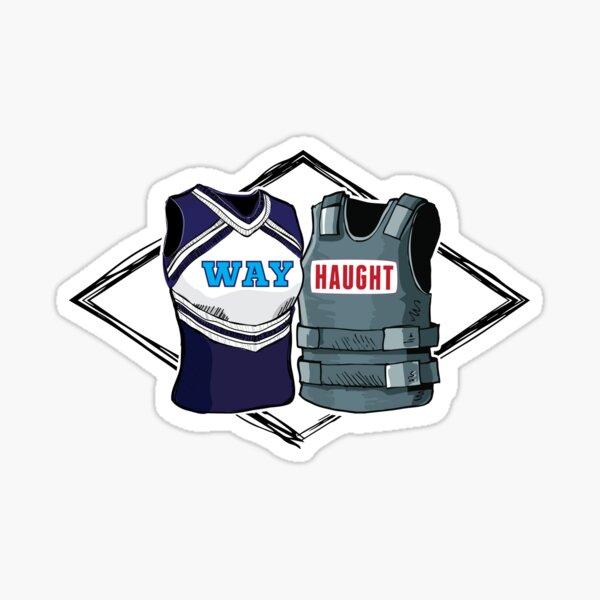 Wayhaught Vests - Blue and Grey Sticker