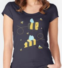 Bumble Cheese (white) Women's Fitted Scoop T-Shirt