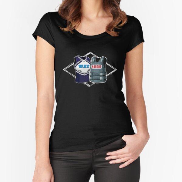 Wayhaught Uniforms - Dark Background Fitted Scoop T-Shirt