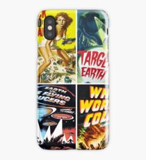 1950s Sci-Fi Movie Poster Collage #13 iPhone Case/Skin