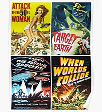 1950s Sci-Fi Movie Poster Collage #13 Poster
