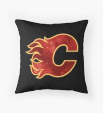 Space Flames Throw Pillow