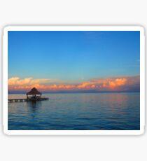 Ambergris Caye Sunset Sticker