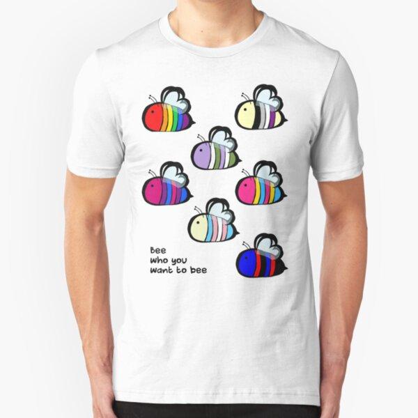 LGBT Pride Bee Swarm Slim Fit T-Shirt