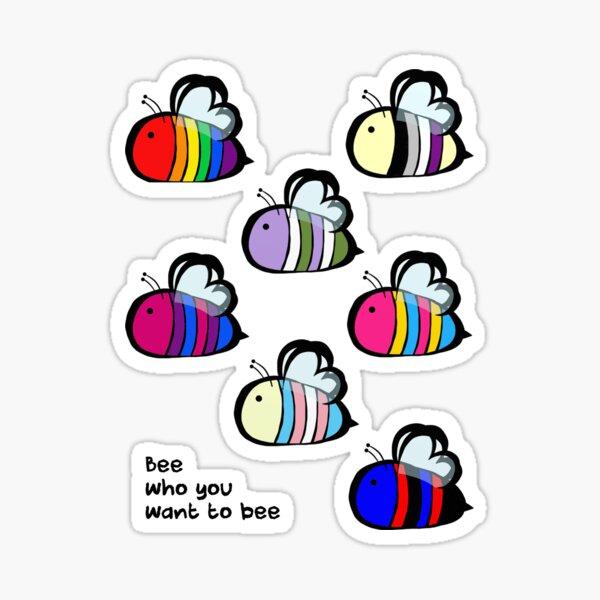 LGBT Pride Bee Swarm Sticker