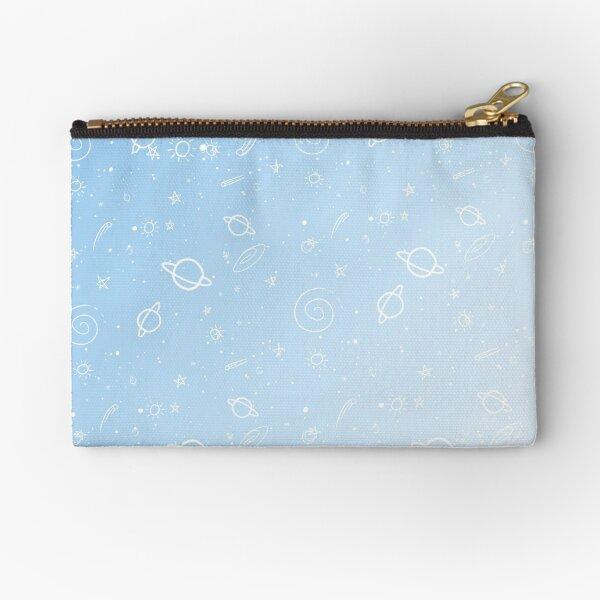Pastel Galaxy- Blue Zipper Pouch