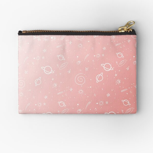 Pastel Galaxy- Pink Zipper Pouch