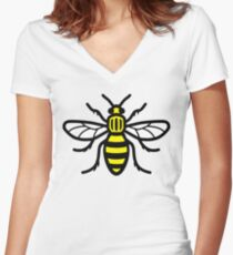 Manchester Bee - High Quality Women's Fitted V-Neck T-Shirt