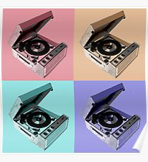 Rock 'n' Roll Record Player Pop Art Poster