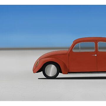 Water Not Required - VW Beetle On Salt Flats - No Logo by UKMatt2000