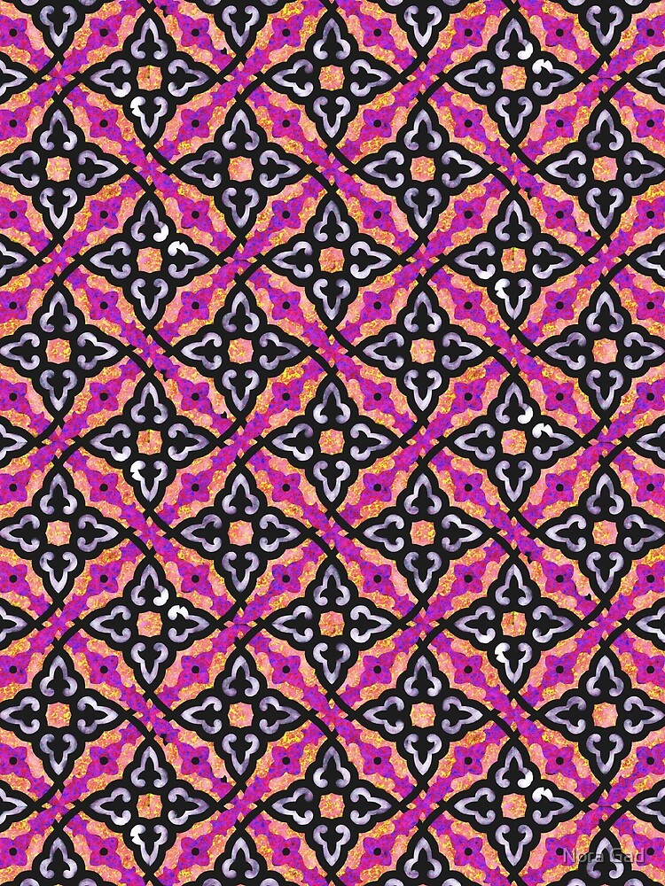 Purple pattern (Burberry style) by NoraMohammed