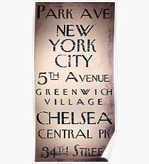 New York City Sign I Poster