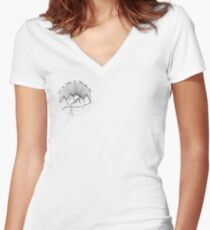 We've Made It This Far, Kid  Women's Fitted V-Neck T-Shirt