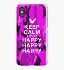 Keep Calm and be Happy Happy Happy (Pink Camo) iPhone Case