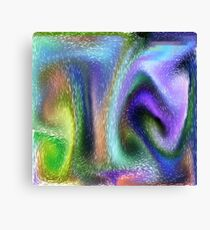 Psychedelic purple Canvas Print
