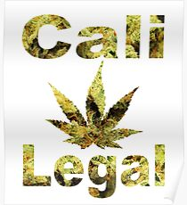 Cali-Legal Bud Type Poster