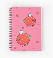 Strawbee Summer (pink) Spiral Notebook
