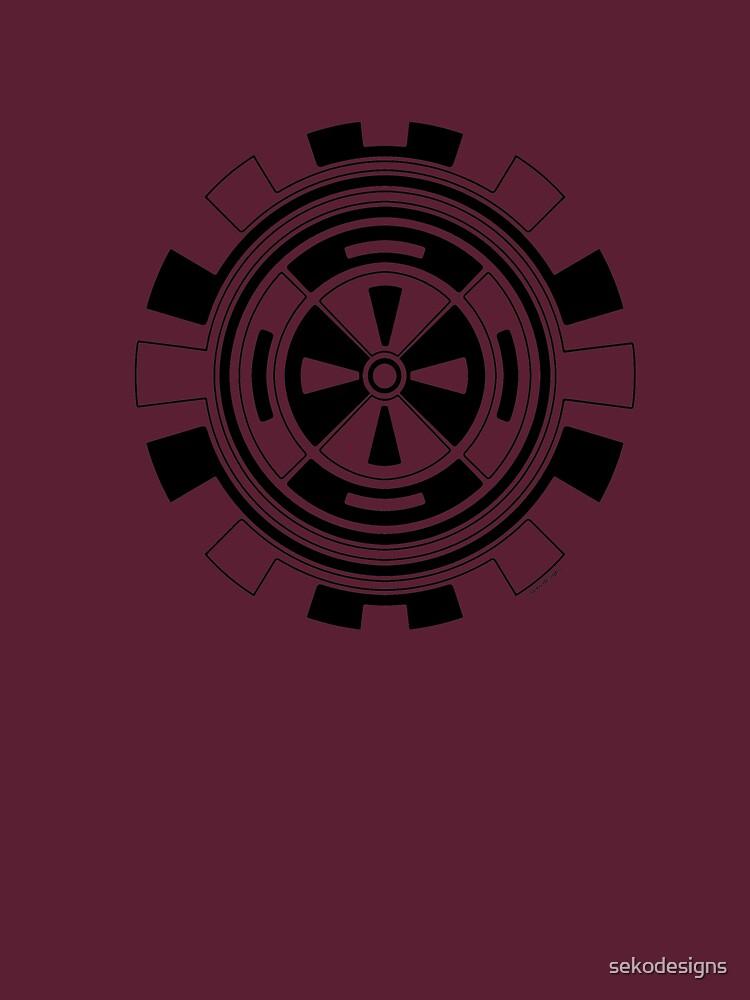 Mandala 11 Back In Black by sekodesigns