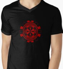 Mandala 11 Colour Me Red Men's V-Neck T-Shirt
