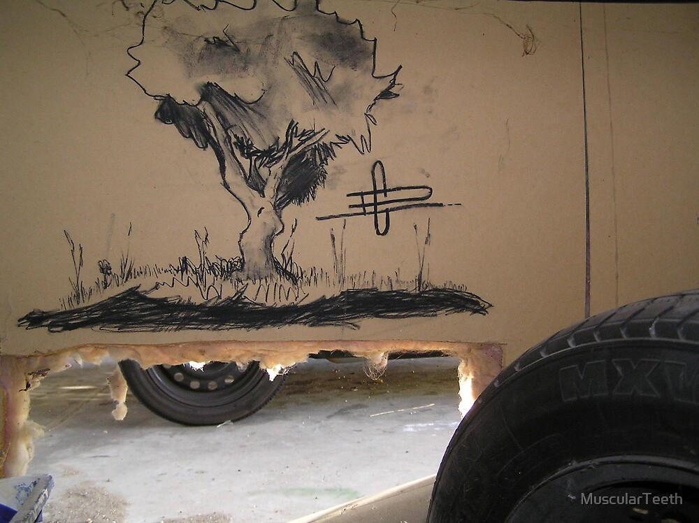 Charcoal on Wall by MuscularTeeth