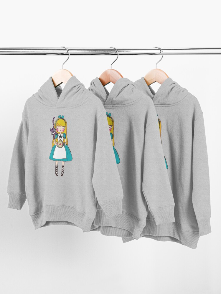 Alternate view of Alice in Wonderland Toddler Pullover Hoodie