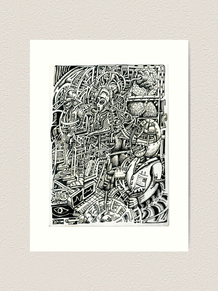 Alternate view of Electric Chair, or, a Shock to the System Art Print
