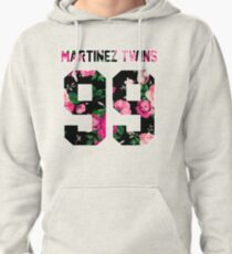 Martinez Twins - Colorful Flowers Pullover Hoodie