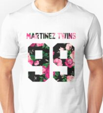 Martinez Twins - Colorful Flowers Unisex T-Shirt