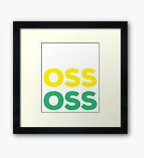 OSS - Brazilian Jiu-Jitsu Framed Print