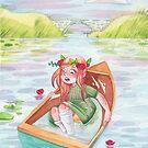 Anne von Green Gables Lady of Shalott in einem undichten Boot von Meghan Zaremba
