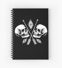 Double Skull Spiral Notebook