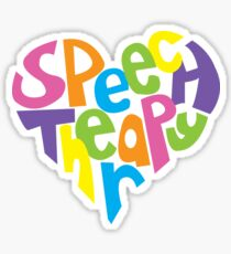 Speech Pathology Love - Color Sticker
