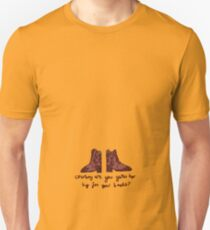 'Cowboy are you getting too Big for your Boots?' Unisex T-Shirt