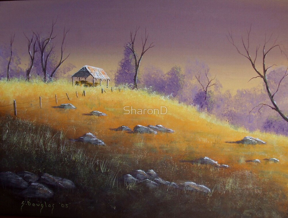 The Hayshed-Painting by SharonD