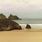 Winter, Holywell Bay by Tainia Finlay