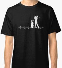 Golfers Heartbeat Design Classic T-Shirt