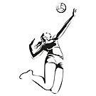 Beach Volleyball by Jatmika Jati