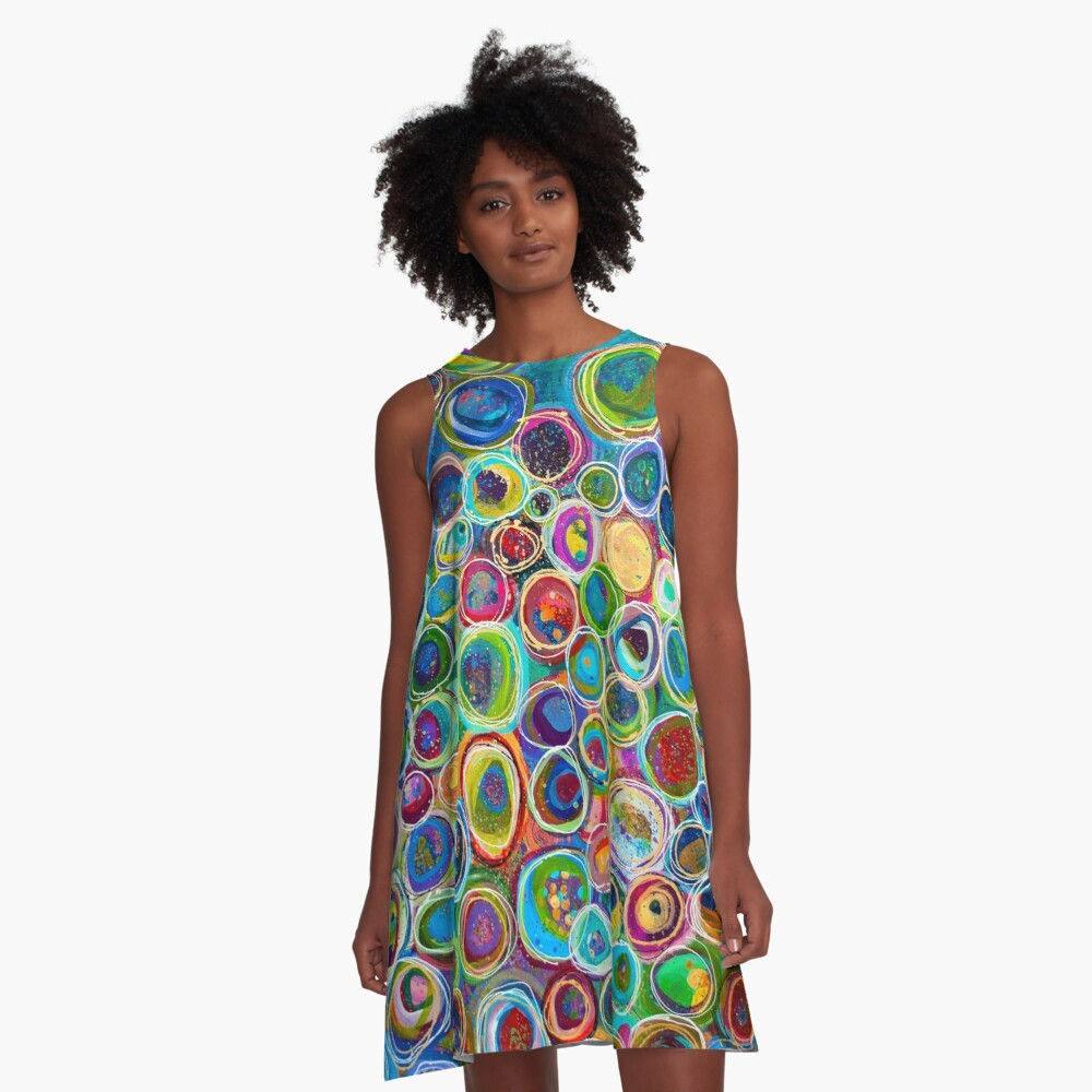 Discover Every Treasure In The World A-Line Dress Front