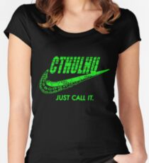 CTHULHU JUST CALL IT t-shirts Women's Fitted Scoop T-Shirt