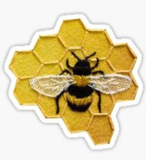 bee with honeycomb Sticker