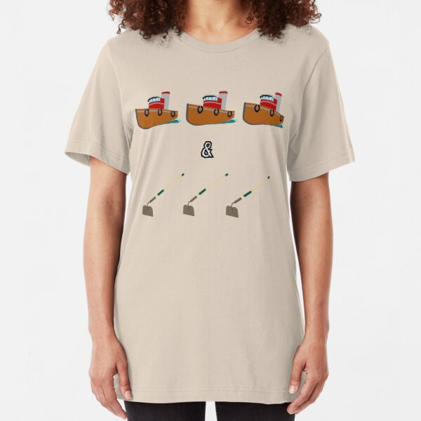 Boats and Hoes Slim Fit T-Shirt