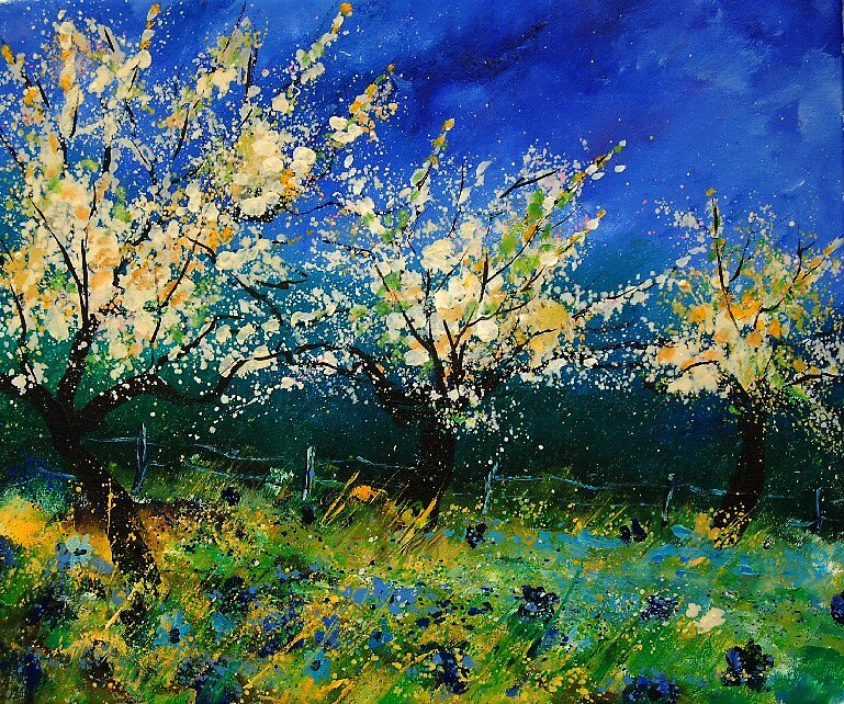 appletrees in bloom by calimero