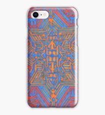 Blue Orange portal iPhone Case/Skin