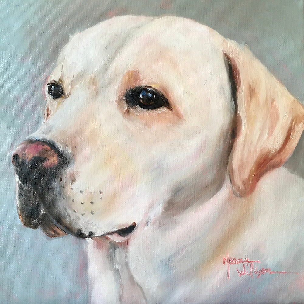 Yellow Lab by Norma Wilson